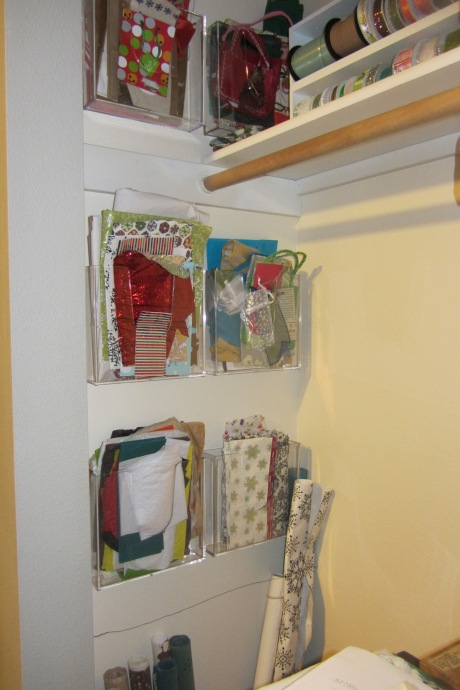 Then I hung and filled all the magazine racks (these make me really happy).