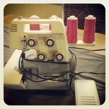Bonus photo: I'm now the proud owner of a serger - hopefully this will help me step it up and start sewing some more.