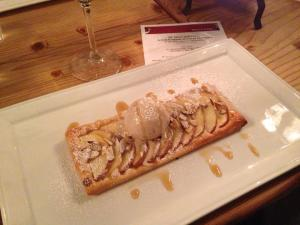Apple and almond tart with chai ice cream and vanill maple (I only ate half the duck course so I'd have room for dessert)