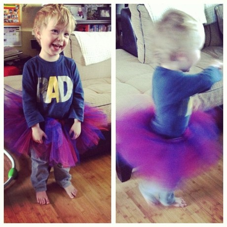 Enjoying his tutu